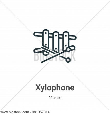 Xylophone icon isolated on white background from music collection. Xylophone icon trendy and modern