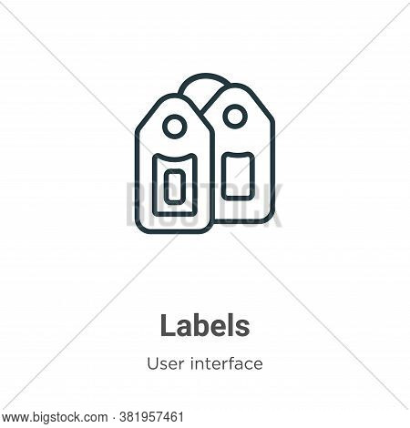 Labels icon isolated on white background from user interface collection. Labels icon trendy and mode
