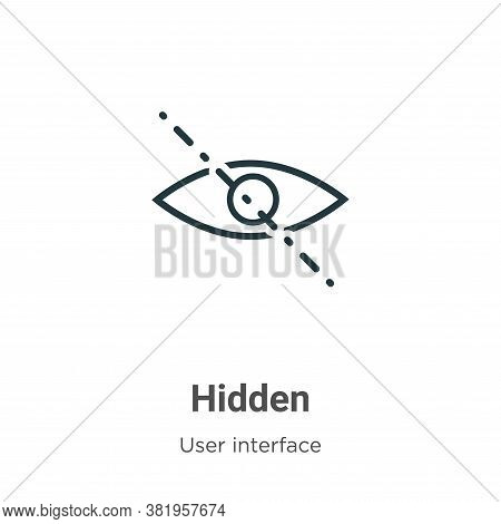Hidden icon isolated on white background from user interface collection. Hidden icon trendy and mode