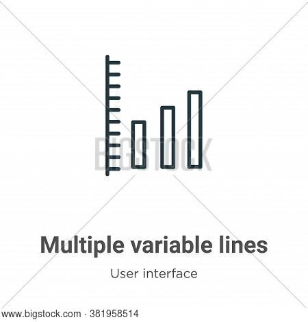 Multiple variable lines icon isolated on white background from user interface collection. Multiple v