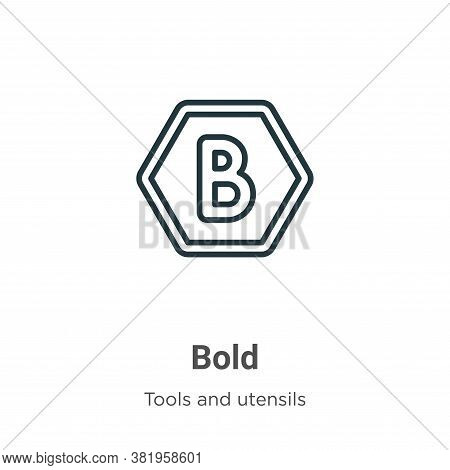 Bold icon isolated on white background from tools and utensils collection. Bold icon trendy and mode