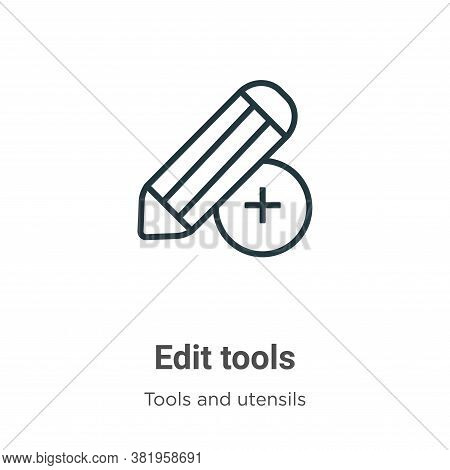 Edit tools icon isolated on white background from tools and utensils collection. Edit tools icon tre
