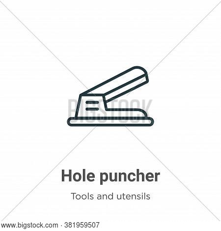 Hole puncher icon isolated on white background from tools and utensils collection. Hole puncher icon