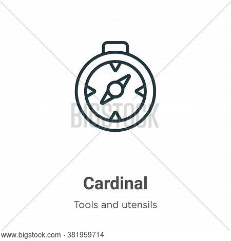 Cardinal Icon From Tools And Utensils Collection Isolated On White Background.