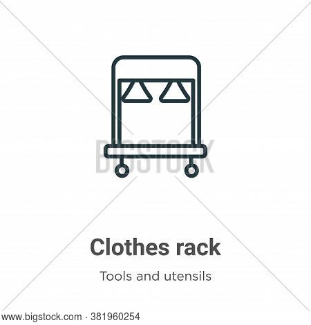 Clothes rack icon isolated on white background from tools and utensils collection. Clothes rack icon
