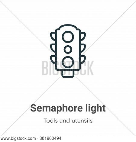 Semaphore light icon isolated on white background from tools and utensils collection. Semaphore ligh
