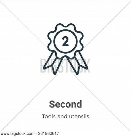 Second icon isolated on white background from tools and utensils collection. Second icon trendy and