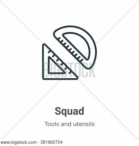 Squad icon isolated on white background from tools and utensils collection. Squad icon trendy and mo