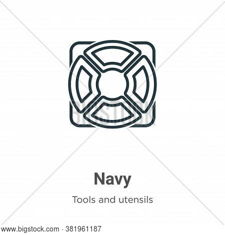 Navy icon isolated on white background from tools and utensils collection. Navy icon trendy and mode