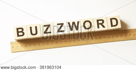 Word Buzzword Made With Wood Building Blocks