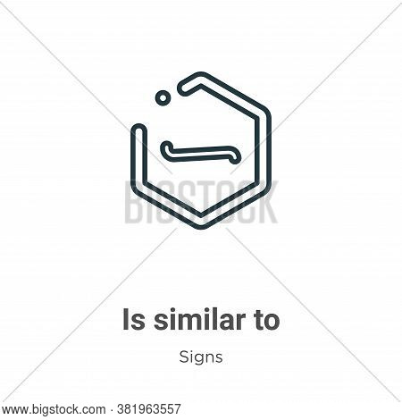 Is similar to symbol icon isolated on white background from signs collection. Is similar to symbol i