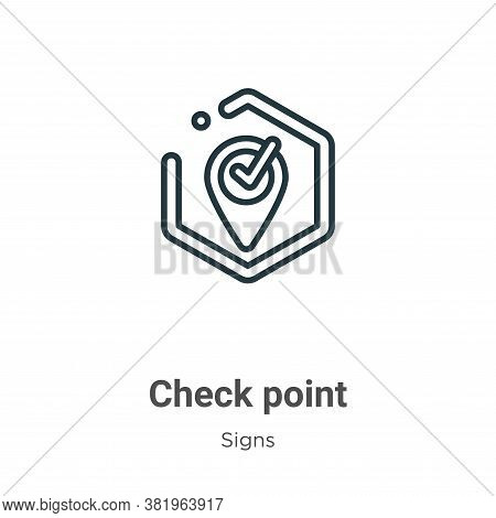Check point icon isolated on white background from signs collection. Check point icon trendy and mod