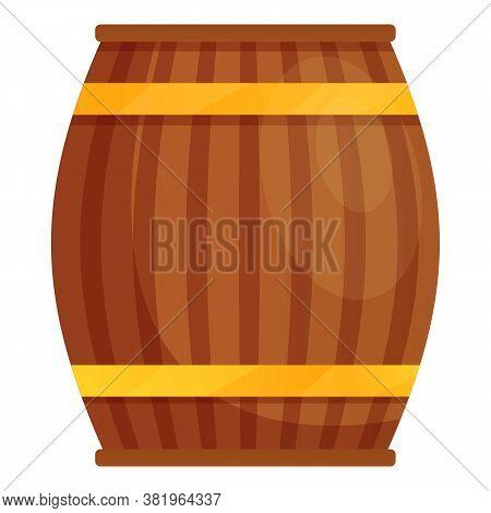 Ireland Beer Barrel Icon. Cartoon Of Ireland Beer Barrel Vector Icon For Web Design Isolated On Whit