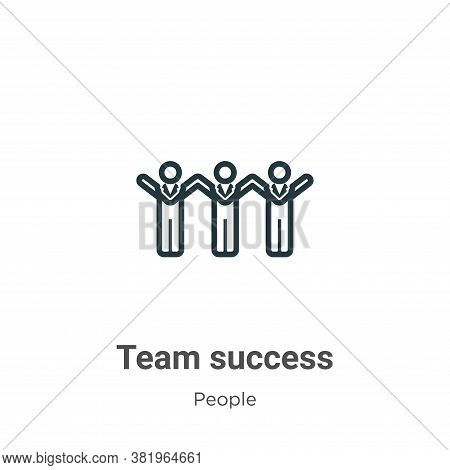 Team success icon isolated on white background from people collection. Team success icon trendy and