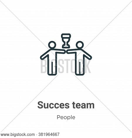 Succes team icon isolated on white background from people collection. Succes team icon trendy and mo