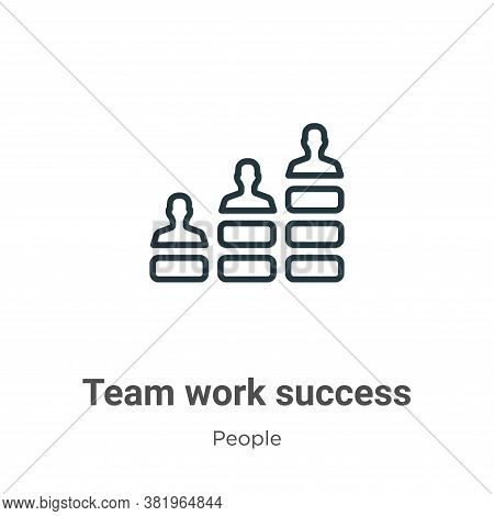 Team work success icon isolated on white background from people collection. Team work success icon t