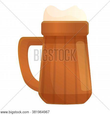 Irish Beer Mug Icon. Cartoon Of Irish Beer Mug Vector Icon For Web Design Isolated On White Backgrou