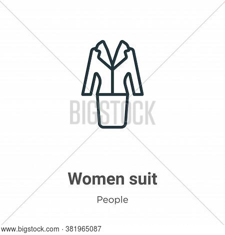Women suit icon isolated on white background from people collection. Women suit icon trendy and mode