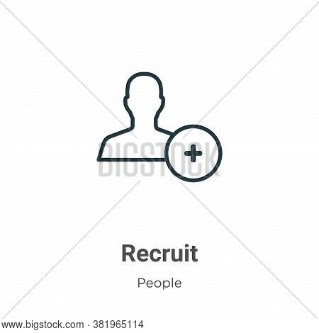 Recruit icon isolated on white background from people collection. Recruit icon trendy and modern Rec