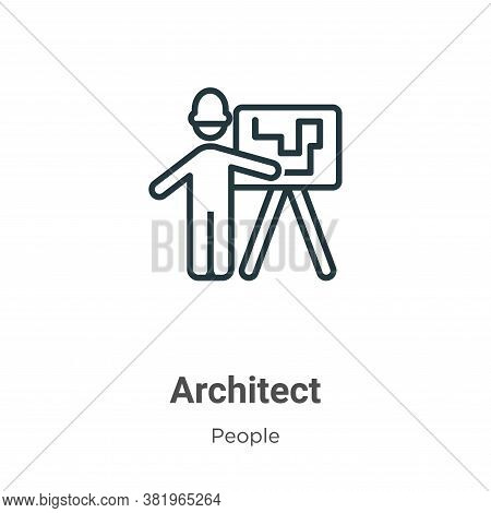 Architect icon isolated on white background from people collection. Architect icon trendy and modern