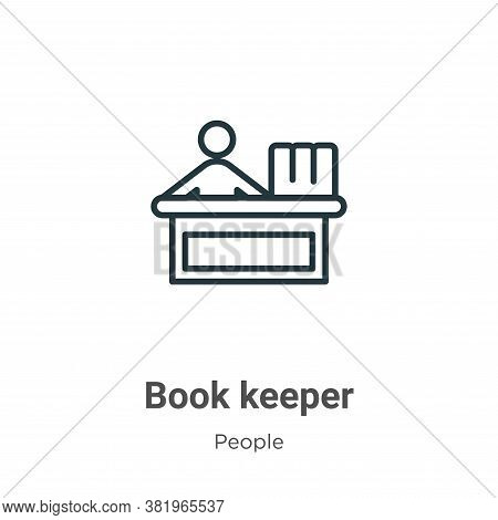 Book keeper icon isolated on white background from people collection. Book keeper icon trendy and mo