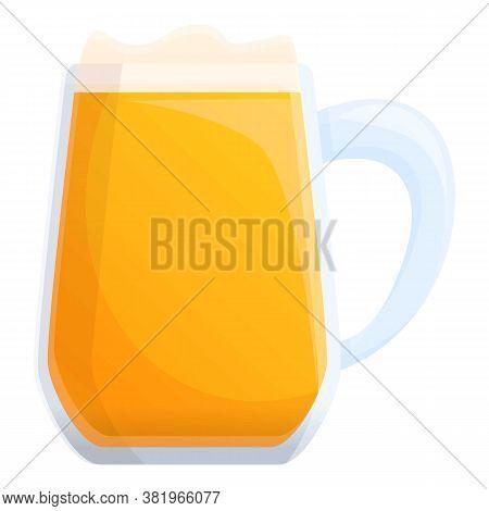 Fresh Irish Beer Mug Icon. Cartoon Of Fresh Irish Beer Mug Vector Icon For Web Design Isolated On Wh