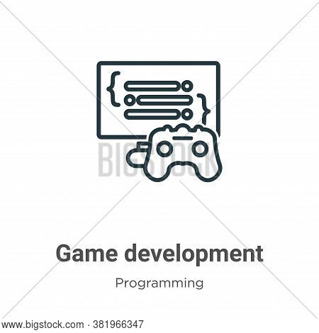 Game development icon isolated on white background from programming collection. Game development ico