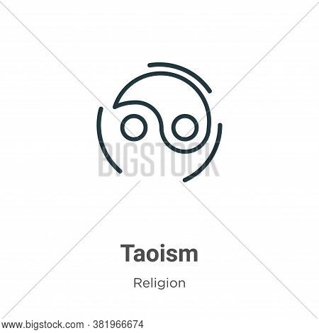 Taoism icon isolated on white background from religion collection. Taoism icon trendy and modern Tao