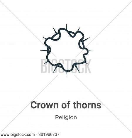 Crown Of Thorns Icon From Religion Collection Isolated On White Background.