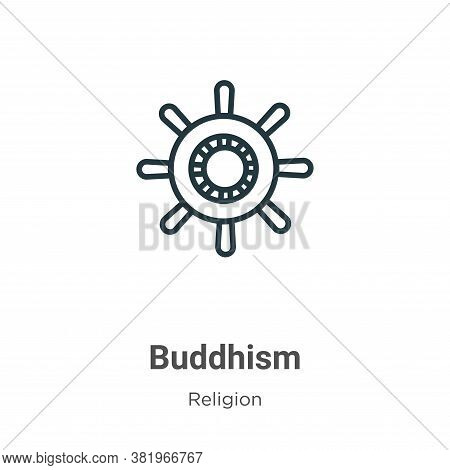 Buddhism icon isolated on white background from religion collection. Buddhism icon trendy and modern