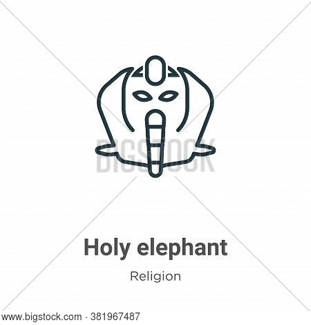 Holy elephant icon isolated on white background from religion collection. Holy elephant icon trendy