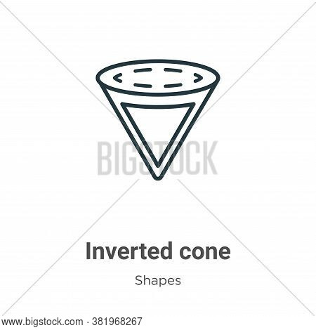 Inverted cone icon isolated on white background from shapes collection. Inverted cone icon trendy an