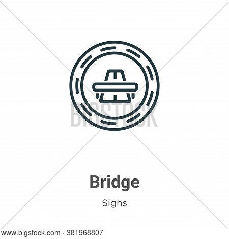 Bridge icon isolated on white background from signs collection. Bridge icon trendy and modern Bridge
