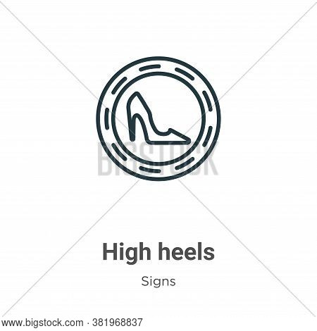 High Heels Icon From Signs Collection Isolated On White Background.