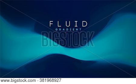 Blue Gradient Fluid Background. Fluid Colors 3d Graphic Gradient Abstract. Shapes Abstract Futuristi