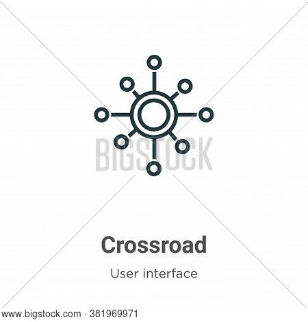 Crossroad Icon From User Interface Collection Isolated On White Background.