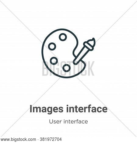 Images interface icon isolated on white background from user interface collection. Images interface