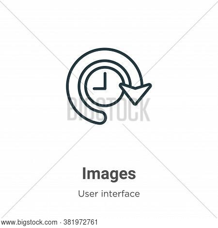 Images icon isolated on white background from user interface collection. Images icon trendy and mode