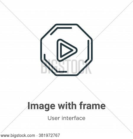 Image with frame icon isolated on white background from user interface collection. Image with frame