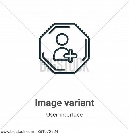 Image variant icon isolated on white background from user interface collection. Image variant icon t