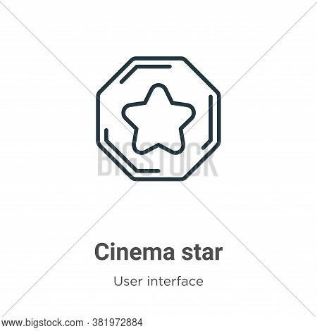 Cinema star icon isolated on white background from user interface collection. Cinema star icon trend