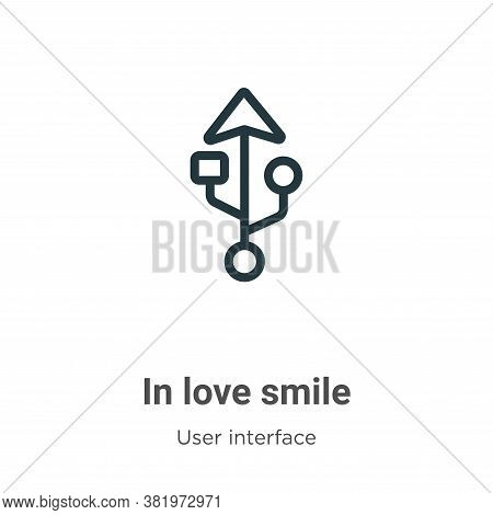 In love smile icon isolated on white background from user interface collection. In love smile icon t