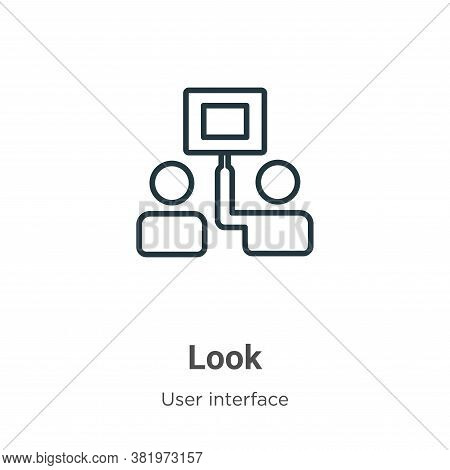 Look icon isolated on white background from user interface collection. Look icon trendy and modern L