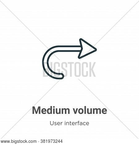Medium volume icon isolated on white background from user interface collection. Medium volume icon t