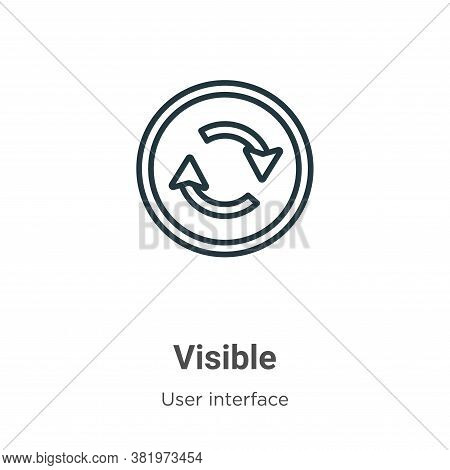 Visible icon isolated on white background from user interface collection. Visible icon trendy and mo