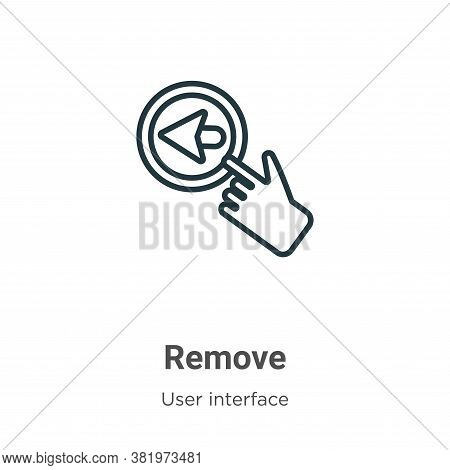 Remove icon isolated on white background from user interface collection. Remove icon trendy and mode