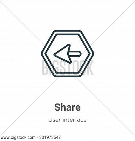 Share icon isolated on white background from user interface collection. Share icon trendy and modern