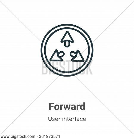 Forward icon isolated on white background from user interface collection. Forward icon trendy and mo