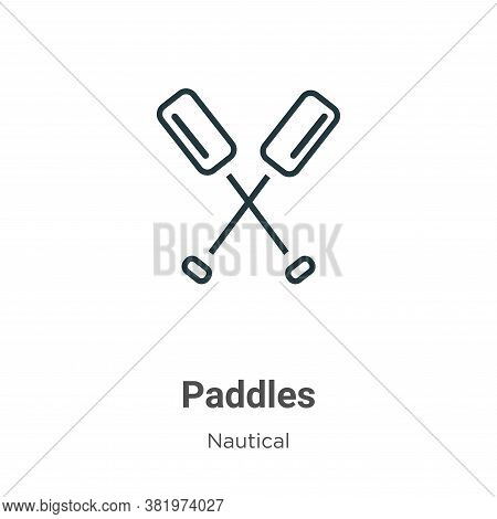 Paddles icon isolated on white background from nautical collection. Paddles icon trendy and modern P