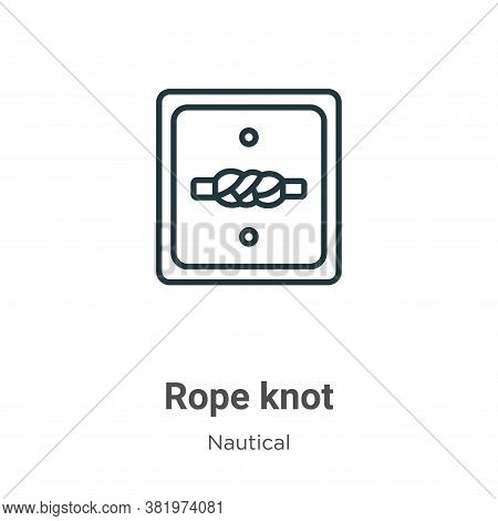 Rope knot icon isolated on white background from nautical collection. Rope knot icon trendy and mode